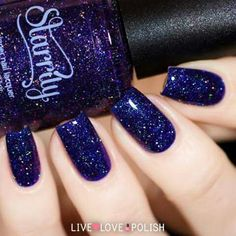 Starrily Milky Way Nail Polish Making acrylic nails in the home is incredibly simple provided Fabulous Nails, Gorgeous Nails, Pretty Nails, Acrylic Nails, Gel Nails, Galaxy Nails, Fancy Nails, Blue Nails, Manicure And Pedicure