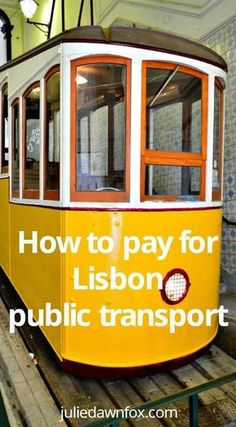 How to pay for Lisbon public transport using Zapping pay as you go system on buses, trams, elevators, trains and the metro. Click to see how this simple, cheap payment method works. Portugal travel tips | travel cards | how to get around Lisbon Portugal