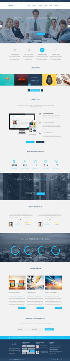 Snaps can be used as multi-purpose portfolio and business WordPress theme or for any other usage. Feel free to create your own website with this finished template.