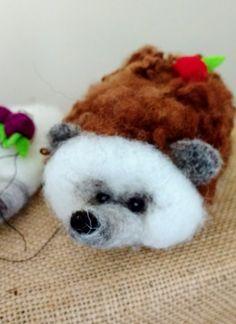 Needle-felted hedgehog by PerinBaba on Etsy