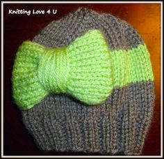 Big Bow Hat by KnittingLove4U on Etsy, $12.00