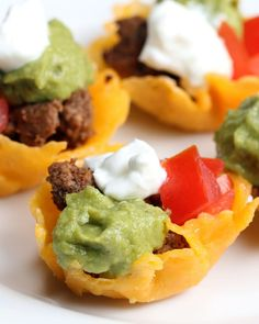 Taco Cheese Cups Recipe by Tasty Low Carb Keto, Low Carb Recipes, Cooking Recipes, Protein Recipes, Sauces, Chips Recipe, Appetizer Recipes, Fun Appetizers, Lunch Recipes