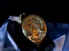 Original Ancient Roman Gold Ring Dedicated to God Sol Invictus  - 4th - 5th Century AD