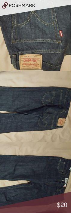Dark blue levi jeans Straight cut dark blue jeans. Barely worn. Levi's Jeans Straight