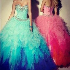 This is totally me and my sister and I would  obviously wear the pink one.