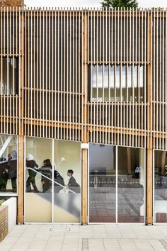 timber facade - Park View Secondary School, Birmingham - Haworth Tompkins - 2012