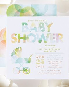 Honor mommy with her little one with whimsical baby shower invitations. | Tiny Prints