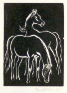 Kotrba EmilDva koně  číslo položky: 1892