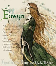 Eowyn from Lord of the Rings Hobbit Art, O Hobbit, Jrr Tolkien, Thranduil, Legolas, Roald Dahl, Eowyn And Faramir, Middle Earth Books, I Am No Man