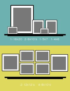Best way to display picture frames on a shelf.