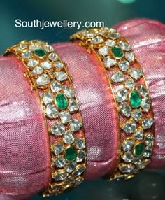Bracelets – Page 6 – Finest Jewelry Indian Jewellery Design, Latest Jewellery, Jewelry Design, Indian Wedding Jewelry, Indian Jewelry, Emerald Jewelry, Gold Jewelry, Jewlery, Plain Gold Bangles