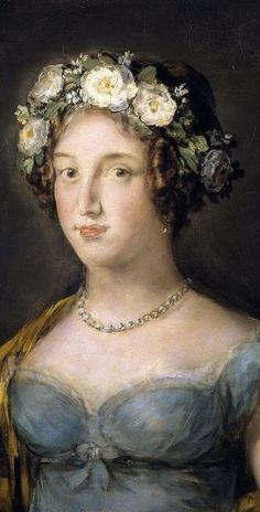 .:. 1816 La duquesa de Abrantès by Francisco de Goya y Lucientes (Museo Nacional del Prado - Madrid Spain)