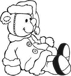 Bear Coloring Pages 2 Color Cute Pinterest Teddy bear