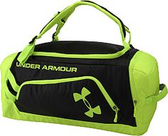 Make it easy to haul all that gear with a durable bag that can be worn backpack-style for heavy loads or hand-held when it's lighter. Workout Outfits, Workout Gear, Under Armour Backpack, Gym Bags, Gym Gear, Sports Brands, Bag Design, Baseball Mom, Athletic Wear