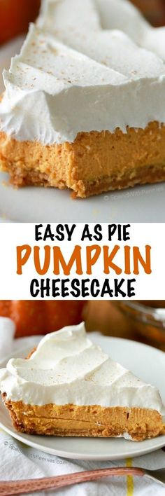 Could easily make this low carb! A rich and creamy baked pumpkin cheesecake with warm fall spices and a creamy whipped topping. This luscious dessert recipe takes just 5 minutes of prep time and gives perfect results every time!
