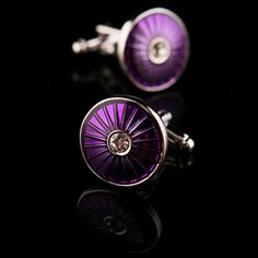 Purple Enamel Base Cufflinks for $24.99