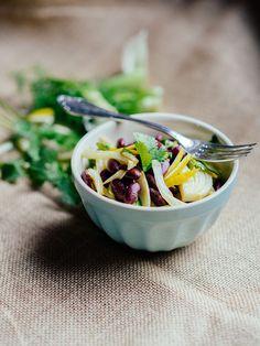 kidney bean salat  vegan, fresh, fruity