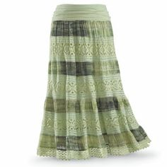 Tie Dyed Crochet Skirt - New Age, Spiritual Gifts, Yoga, Wicca, Gothic, Reiki, Celtic, Crystal, Tarot at Pyramid Collection