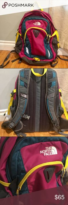 "North Face Yavapai backpack Great and spacious north face backpack. minimal signs of wear and still has a lot of life left. features many pockets and a laptop pocket as well, which is compatible with most 15"" laptops. North Face Bags Backpacks"