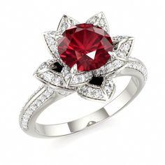 Ruby LOTUS Ring #ruby #engagement #ring