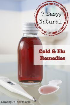 7 Easy, Natural Cold and Flu Remedies  GrowingUpTriplets.com  #flu #naturalremedy #cold