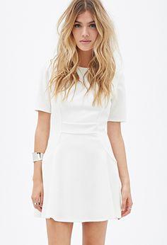 Textured Geo-Pattern Dress | FOREVER21 - 2055878309