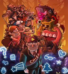 Welcome To Gravity Falls Gravity Falls Anime, Gravity Falls Dipper, Gravity Falls Fan Art, Gravity Falls Bill, Dipper Pines, Monster Falls, Grabity Falls, Desenhos Cartoon Network, Pinecest