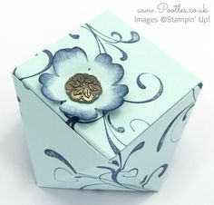 Stampin' Up! UK Demonstrator Pootles -Faceted Gift Box Tutorial using Everything Eleanor Oooo, don't you just love a box that looks reeeeeaaaallllly compl