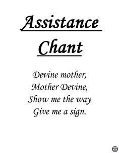 Assistance Chant