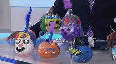 Local 4 set decorated with Rielly's no carve pumpkin creations | News  - Home