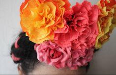 corner blog: how to make crepe paper flowers (my way!)