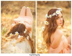 Flower Child. Floral Crown of Daisies. Pefect for coachella and the wild and free. Boho inspired photo shoot by Kayla V Photography. Floral Crown by Love Sparkle Pretty. https://www.etsy.com/listing/180982788/daisy-floral-crown-created-with-wild Daisy Crown $42