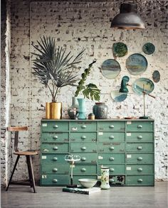 La tendencia en tonos verdes es tendencia en decoración en primavera 2017 #tendencias #decoracion #primavera2017 #trends #decoration #decor #spring2017