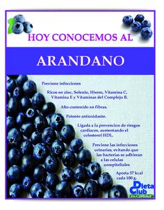 Propiedades del Arandano