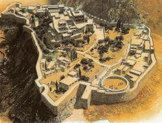 Reconstrucción de Micenas | Civilización micénica (1.500-1.000 a.C.)