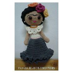 Frida Kahlo amigurumi
