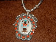 Kachina rare necklace sterling silver huge native american dead old pawn coral turquoise southwest jewelry quarter horse vintage jewelry by LittleCherokeeValley on Etsy