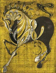 Tadashi Nakayama - 2 works: Neighing Horse; Ema,... on MutualArt.com