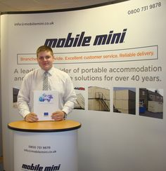 Within months of starting his Intermediate Business Administration Apprenticeship with Stockton based Mobile Mini, Macauley Underwood (18) was dealing with some of their largest clients, training new apprentices and successfully securing a promotion.  Asking lots of questions and volunteering for extra work, his enthusiasm and quest for knowledge are appreciated, and recognised, by his supervisor and colleagues throughout the national network of depots.