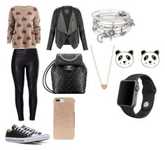 """Untitled #65"" by pisy88 on Polyvore featuring Venus, Converse, Kate Spade, Alex and Ani, Accessorize and Apple"
