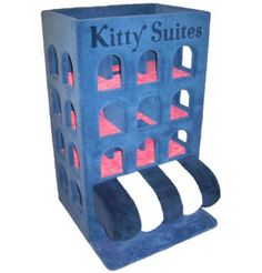 Cat Gyms : Kitty Grand Hotel  on the verge of tacky but adorable.