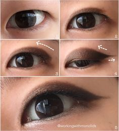 Super simple 5-step pictorial for an everyday look on monolids #makeup #beauty