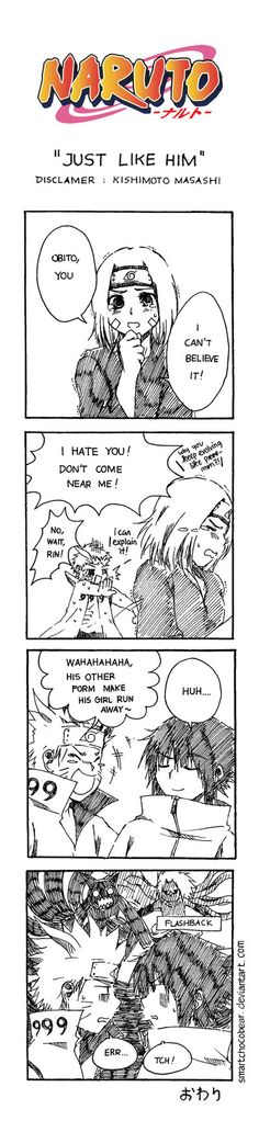 "Sequel of ""Obito's Jealousy"" Naruto © Kishimoto Masashi Doujinshi ©tali"
