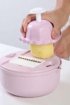 Mandoline Slicer Cutter Chopper and Grater 😍 - Küche n - Kitchen Tools Cool Kitchen Gadgets, New Gadgets, Kitchen Items, Kitchen Utensils, Kitchen Hacks, Kitchen Tools, Cool Kitchens, Kitchen Appliances, Travel Gadgets