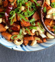 Kung Pao Sweet Potatoes | Appetite for China (sub GF coconut aminos for soy sauce to make it Paleo)