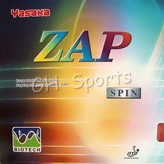 Yasaka ZAP SPIN BIOTECH Pips-in Table Tennis PingPong Rubber With Sponge NO ITTF #Affiliate