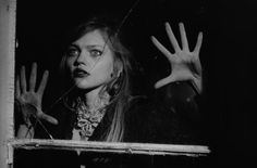 Sasha Pivovarova in Peter Lindbergh's The Birds for Vogue Italia