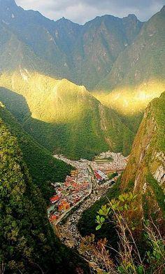 Aguas Calientes, Peru where the train stops for Machu Picchu. Repinned by Elizabeth VanBuskirk.