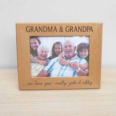 personalized grandparents picture frame - Engraved Picture Frame