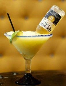 Frozen Corona Margarita  recipe here: http://www.howlatthemoon.com/dueling_piano_bar/margarita-recipes-to-drool-over/